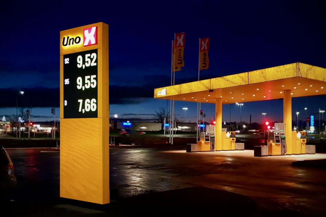 ViewNet Pro LED · Tankstation · Uno-X